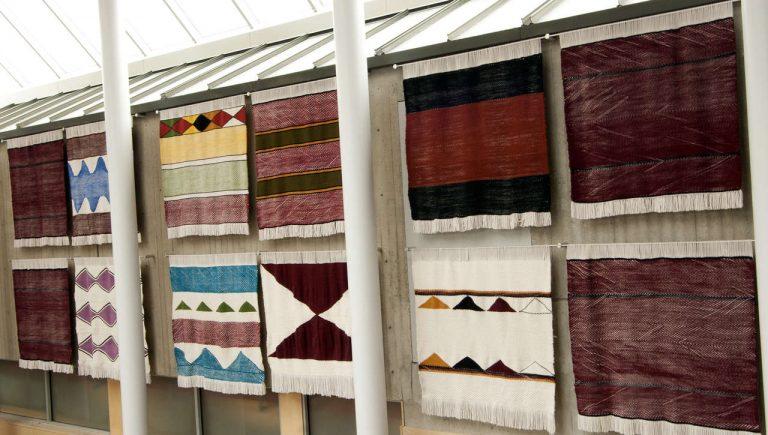 Weavings commissioned by Simon Fraser University.