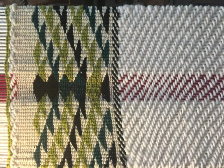 Close up of the border for the weaving at The Capilano Tea House.