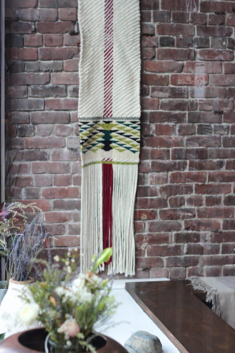 Weaving for The Capilano Tea House
