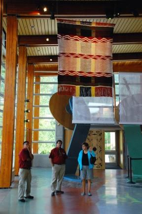 Weavings created for the Squamish Lil'wat Cultural Centre