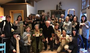 SFU Semester in Dialogue visits the Weaving House. (click to enlarge)